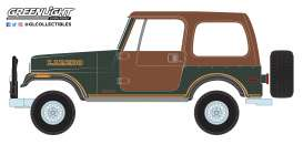 Jeep  - CJ-7 1980 brown/green - 1:64 - GreenLight - 35110D - gl35110D | Tom's Modelauto's