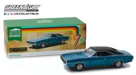 Dodge  - Challenger 1970 blue - 1:18 - GreenLight - 13530 - gl13530 | Tom's Modelauto's