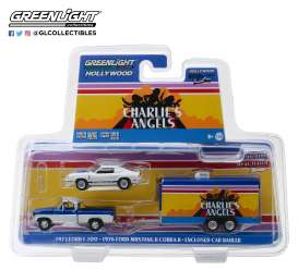 Ford  - F-100 1972 white/blue - 1:64 - GreenLight - 31070A - gl31070A | Tom's Modelauto's