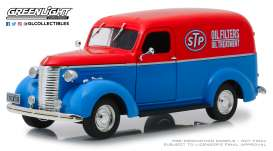Chevrolet  - Panel Truck 1939 blue/red - 1:24 - GreenLight - 85022 - gl85022 | Tom's Modelauto's