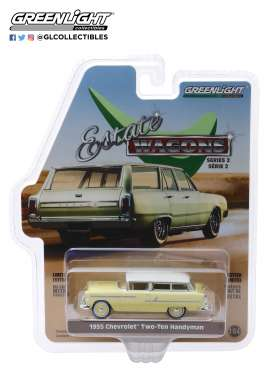 Chevrolet  - Two-Ten Handyman 1955 gold/beige - 1:64 - GreenLight - 29930A - gl29930A | Tom's Modelauto's