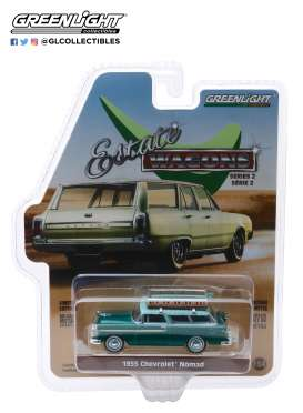 Chevrolet  - Nomad 1955 green/blue - 1:64 - GreenLight - 29930B - gl29930B | Tom's Modelauto's