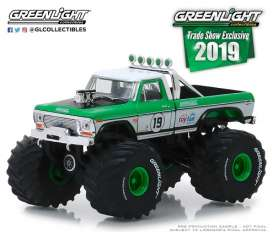 Ford  - F-250 1974 white/green - 1:64 - GreenLight - 30006 - gl30006 | Tom's Modelauto's