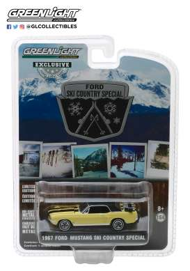Ford  - Mustang 1967 breckenridge yellow - 1:64 - GreenLight - 30007 - gl30007 | Tom's Modelauto's