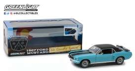Ford  - Mustang 1967 turquoise - 1:18 - GreenLight - 13535 - gl13535 | Tom's Modelauto's