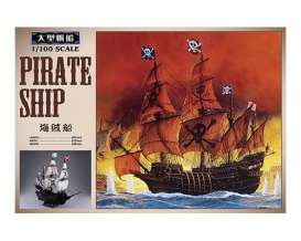 Boats  - Pirate Ship  - 1:100 - Aoshima - 155007 - abk155007 | Tom's Modelauto's