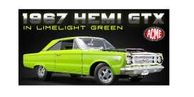Plymouth  - GTX 1967 lime light green - 1:18 - Acme Diecast - 1806703 - Acme1806703 | Tom's Modelauto's
