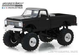 Chevrolet  - K10 Monster Truck 1972 black - 1:64 - GreenLight - 49020F - gl49020F | Tom's Modelauto's