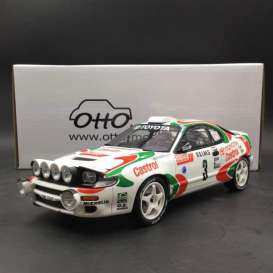 Toyota  - Celica 1993 white/red/green - 1:18 - OttOmobile Miniatures - 595 - otto595 | Tom's Modelauto's