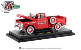Chevrolet  - Apache 1958 red/white - 1:24 - M2 Machines - 40300-63B - M2-40300-63B | Tom's Modelauto's