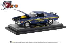 Dodge  - Challenger 1970 blue/yellow - 1:24 - M2 Machines - 40300-63A - M2-40300-63A | Tom's Modelauto's