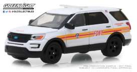 Ford  - Police Interceptor Utility 2017 white/red - 1:64 - GreenLight - 30012 - gl30012 | Tom's Modelauto's