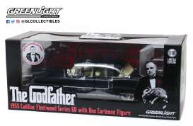Cadillac  - 1955 black - 1:18 - GreenLight - 13531 - gl13531 | Tom's Modelauto's