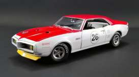 Pontiac  - Trans Am 1968 white/red - 1:18 - Acme Diecast - 1805210 - acme1805210 | Tom's Modelauto's