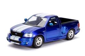 Ford  - SVT Lightning 1999 candy blue/white - 1:24 - Jada Toys - 30357 - jada30357b | Tom's Modelauto's