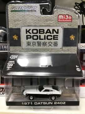 Datsun  - 240Z *Koban Police* black/white - 1:64 - GreenLight - 51156 - gl51156 | Tom's Modelauto's