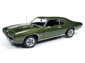 Pontiac  - GTO 1968 green - 1:18 - Auto World - AMM1128 - AMM1128 | Tom's Modelauto's
