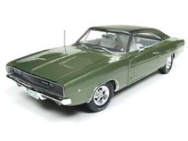 Dodge  - Charger 1968 green - 1:18 - Auto World - AMM1140 - AMM1140 | Tom's Modelauto's