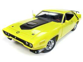 Plymouth  - Road Runner 1971 yellow/black - 1:18 - Auto World - AMM1158 - AMM1158 | Tom's Modelauto's