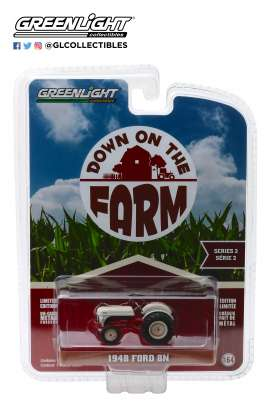 Ford  - 8N Tractor 1948 white/red - 1:64 - GreenLight - 48020A - gl48020A | Tom's Modelauto's