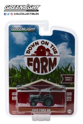 Ford  - 8N Tractor 1949 grey - 1:64 - GreenLight - 48020B - gl48020B | Tom's Modelauto's