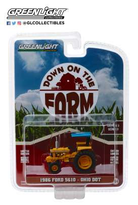 Ford  - 5610 Tractor 1986 yellow/blue - 1:64 - GreenLight - 48020D - gl48020D | Tom's Modelauto's