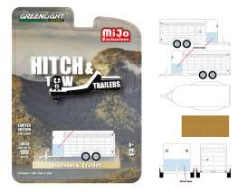 Trailer  - Livestock white - 1:64 - GreenLight - 51212 - gl51212 | Tom's Modelauto's