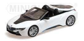 BMW  - I8 Roadster 2017 white metallic - 1:18 - Minichamps - 155027031 - mc155027031 | Tom's Modelauto's