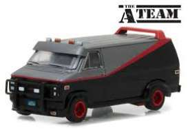 GMC  - Vandura *A-Team* chrome/grey/black - 1:64 - GreenLight - 51225 - gl51225 | Tom's Modelauto's
