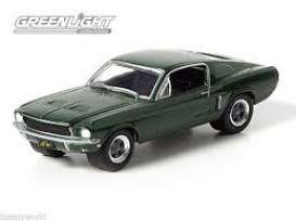 Mustang  - Bullitt chrome/green - 1:64 - GreenLight - 51226 - gl51226 | Tom's Modelauto's