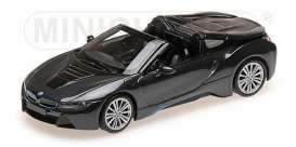 BMW  - I8 Roadster 2017 grey metallic - 1:43 - Minichamps - 410027030 - mc410027030 | Toms Modelautos