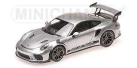 Porsche  - 911 2018 silver metallic - 1:43 - Minichamps - 410067020 - mc410067020 | Tom's Modelauto's