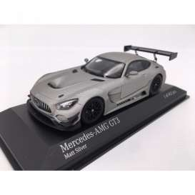 Mercedes Benz  - AMG GT3 2017 matt silver - 1:43 - Minichamps - 410173202 - mc410173202 | Tom's Modelauto's