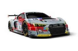 Audi  - R8 LMS 2018 grey/red/black - 1:43 - Minichamps - 410181714 - mc410181714 | Toms Modelautos