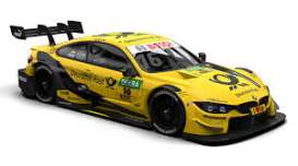 BMW  - M4 2018 yellow/black - 1:43 - Minichamps - 410182416 - mc410182416 | Toms Modelautos