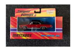 Pontiac  - GTO 1967 red/black - 1:43 - Matchbox - J6478 - mbJ6478 | Tom's Modelauto's