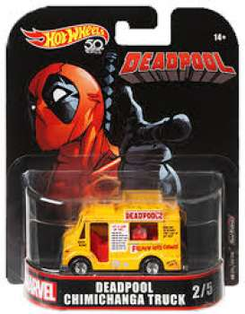 Marvel  - Deadpool Chimichanga Truck yellow/red - 1:64 - Hotwheels - FLD27 - hwmvFLD27 | Toms Modelautos