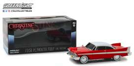 Plymouth  - Fury *Christine* 1958 red/white - 1:24 - GreenLight - 84082 - gl84082 | Tom's Modelauto's