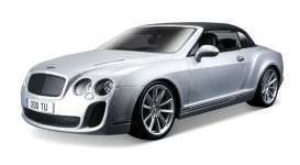 Bentley  - Continental Supersports 2012 silver - 1:18 - Maisto - 11037s - mai11037s | Tom's Modelauto's