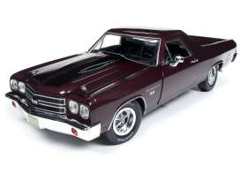Chevrolet  - EL Camino 1970 black/cherry - 1:18 - Auto World - AMM1161 - AMM1161 | Tom's Modelauto's