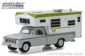 Dodge  - D-100 1966 white/green - 1:64 - GreenLight - 30022 - gl30022 | Tom's Modelauto's