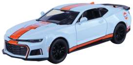 Chevrolet  - Camaro 2017 light blue/orange - 1:24 - Motor Max - 79656 - mmax79656 | Tom's Modelauto's