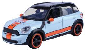 Mini Cooper - S Countryman light blue/orange - 1:24 - Motor Max - 79653 - mmax79653 | Tom's Modelauto's