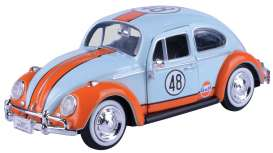 Volkswagen  - Beetle 1966 light blue/orange - 1:24 - Motor Max - 79655 - mmax79655 | Tom's Modelauto's