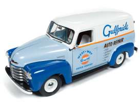 Chevrolet  - Panel Delivery 1948 blue/orange/white - 1:18 - Auto World - AW250 - AW250 | Tom's Modelauto's