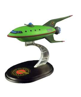 Futurama  - Planet Express Ship Model  green - Magazine Models - Futurama - magFUTURAMA | Toms Modelautos
