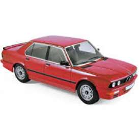 BMW  - M535i 1986 red - 1:18 - Norev - 183262 - nor183262 | Tom's Modelauto's