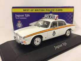 Jaguar  - XJ6 1969 white/orange - 1:43 - Magazine Models - POLjaguar - MagPOLJaguar | Tom's Modelauto's