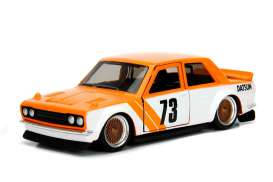 Datsun  - 510 1973 orange/white - 1:32 - Jada Toys - 98572o - jada98572o | Tom's Modelauto's