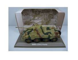 Military Vehicles  - SDKFZ 234/2 PUMA 1940 green/sand - 1:43 - Magazine Models - MILBL04 - magMILBL04 | Tom's Modelauto's